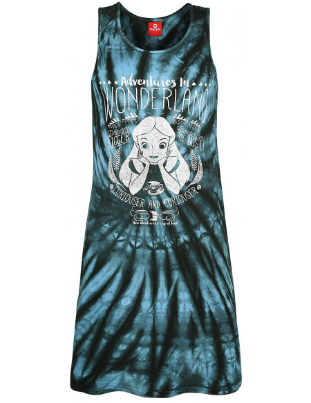 Alice Au Pays Des Merveilles Adventures In Wonderland Robe batik