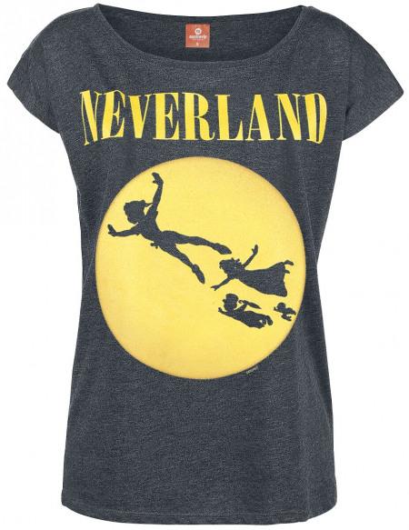 Peter Pan Pays Imaginaire T-shirt Femme gris sombre chiné