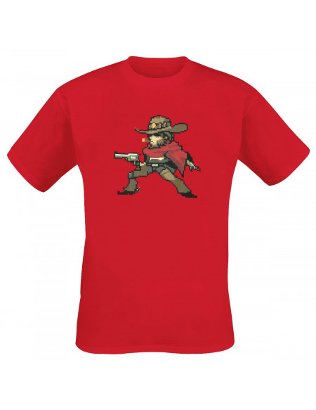 Overwatch McCree T-shirt rouge