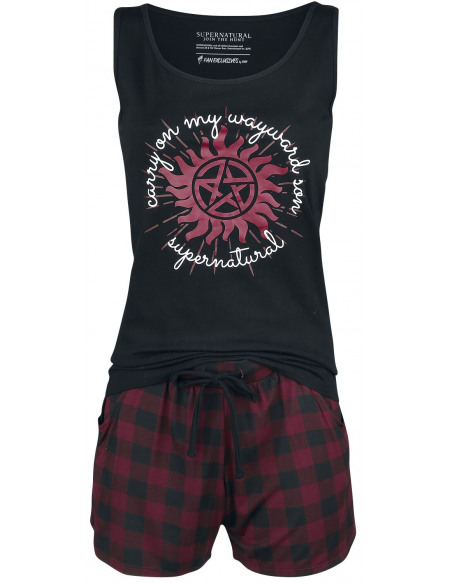 Supernatural Carry On Pyjama noir/rouge