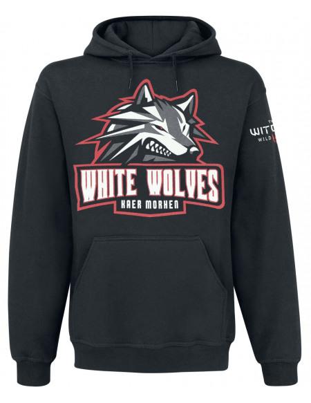The Witcher White Wolves Sweat à capuche noir
