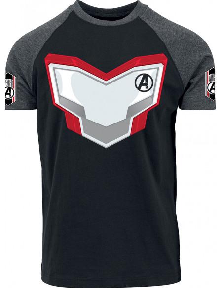 Avengers Uniforme - Avengers T-shirt chiné noir/gris