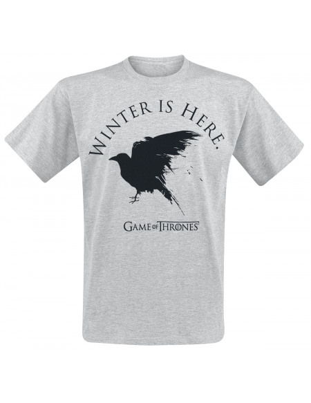Game Of Thrones Winter Is Here T-shirt gris chiné