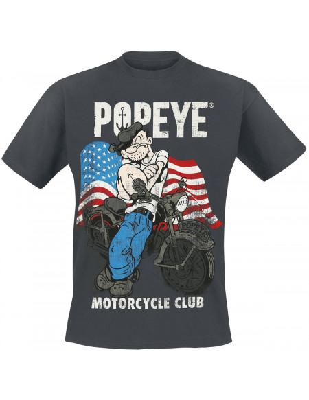 Popeye Motorcycle Club T-shirt noir