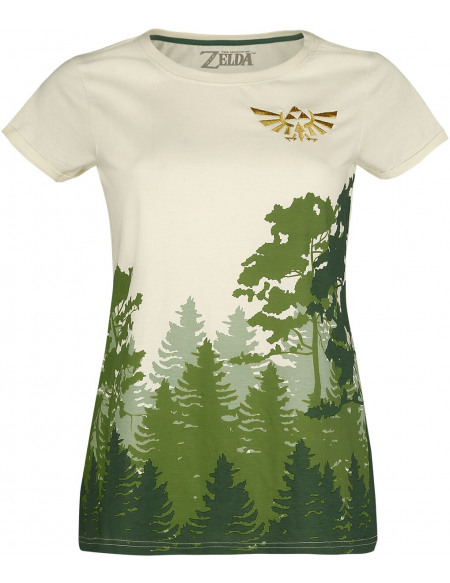The Legend Of Zelda Hyrule - Forêt T-shirt Femme blanc cassé