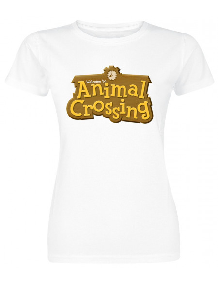 Animal Crossing Logo T-shirt Femme blanc