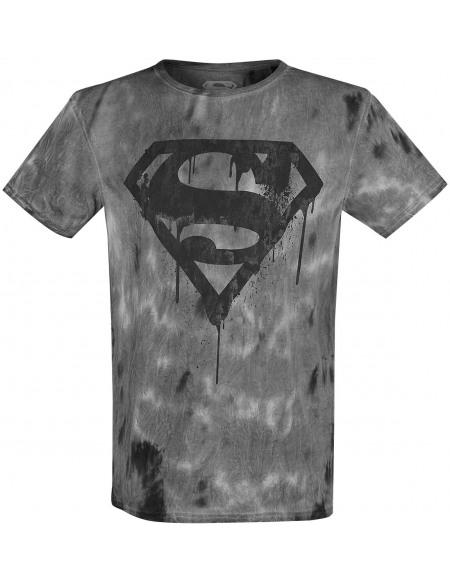 Superman Logo Dégoûlinant T-shirt gris