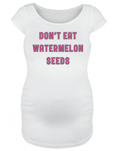 Vêtements de maternité Don`t Eat Watermelon Seeds T-shirt Femme blanc