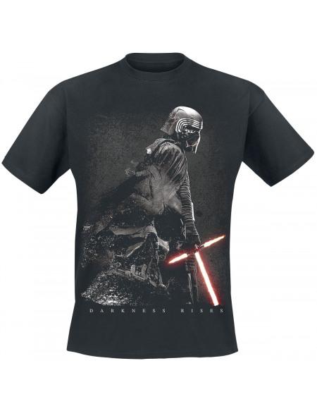 Star Wars Épisode 9 - L'Ascension De Skywalker - Kylo Ren & Dark Vador - Darkness Rises T-shirt noir