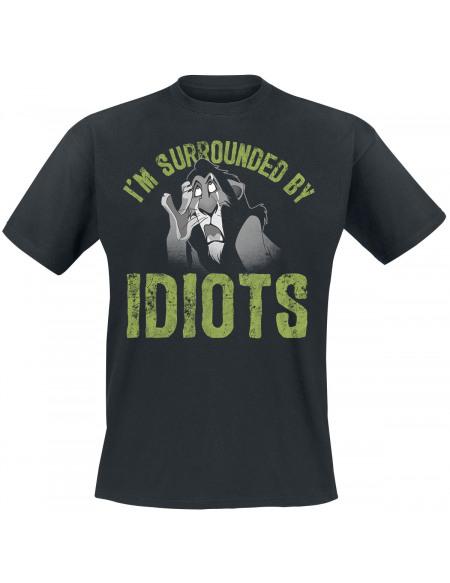 Le Roi Lion I´m Surrounded By Idiots T-shirt noir