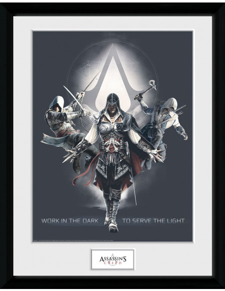 Assassin's Creed Work In The Dark Photo encadrée multicolore
