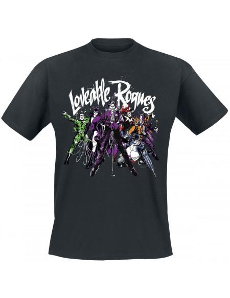 Batman Loveable Rogues T-shirt noir