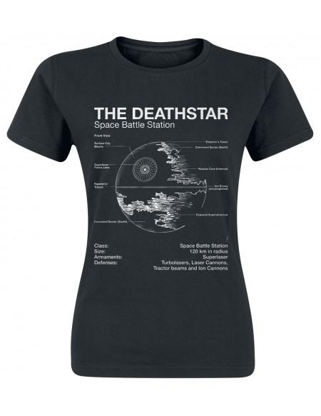 Star Wars Étoile De La Mort - Croquis T-shirt Femme noir