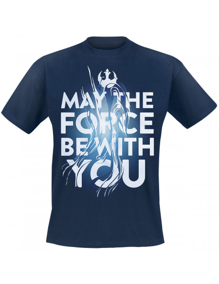 Star Wars Épisode 9 - L'Ascension De Skywalker - May The Force Be With You T-shirt marine