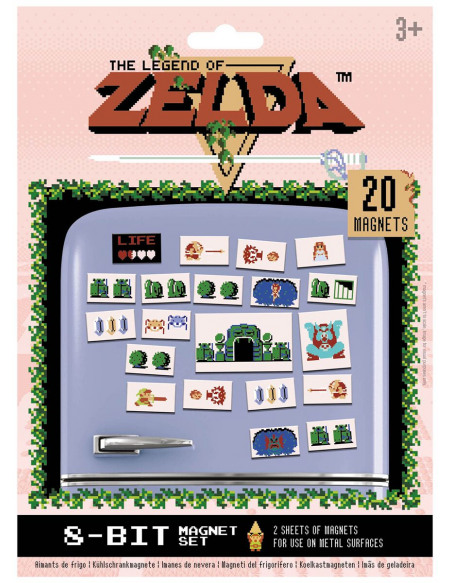 The Legend Of Zelda Retro Magnette frigo multicolore