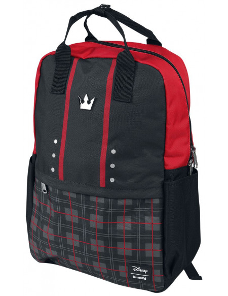 Kingdom Hearts Loungefly - Carreaux Sora Sac à Dos noir/rouge