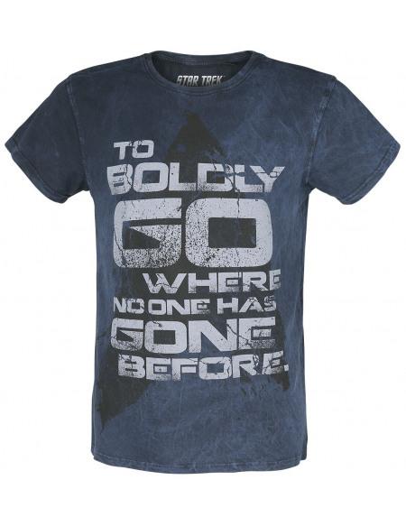 Star Trek : La Nouvelle Génération To Boldy Go Where No One Hase Gone Before T-shirt marine