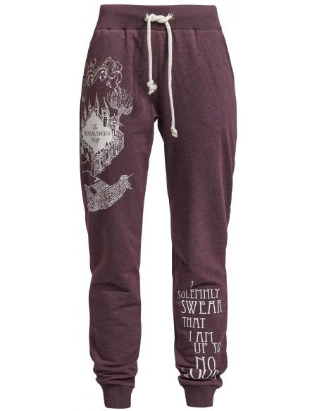 Harry Potter La Carte Du Maraudeur Pantalon de Jogging bordeaux chiné