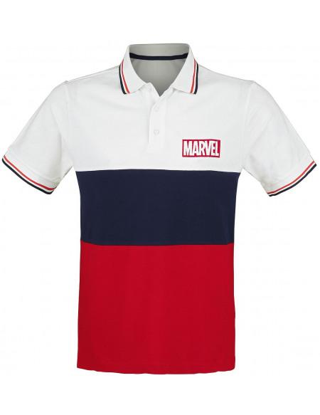 Marvel Logo Polo blanc/rouge/bleu