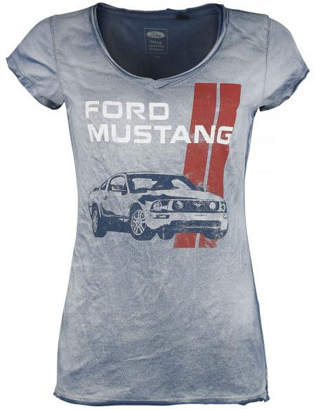 Ford Mustang - Freedom Machine T-shirt Femme bleu