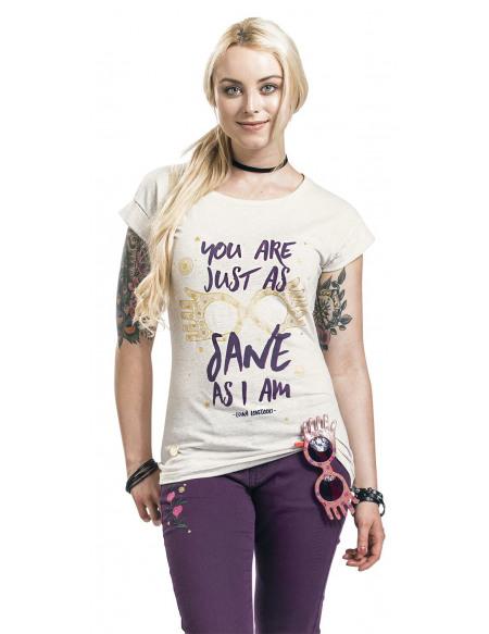 Harry Potter Luna Lovegood - Just As Sane As I Am T-shirt Femme crème marbrée