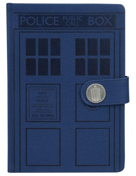 Doctor Who Tardis Cahier bleu