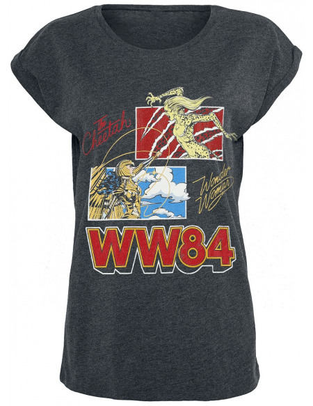 Wonder Woman 1984 - The Cheetah Vs Wonder Woman T-shirt Femme gris sombre chiné