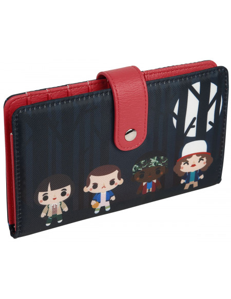 Stranger Things Loungefly - Chibi Portefeuille noir