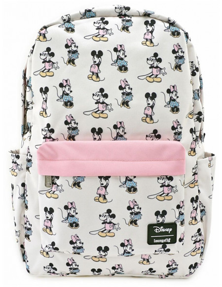 Mickey & Minnie Mouse Loungefly - Pastel Micky & Minni Sac à Dos rose clair