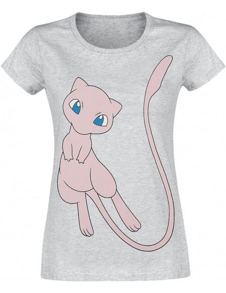 Pokémon Mew T-shirt Femme gris chiné