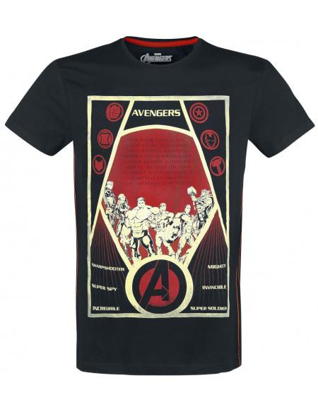 Avengers Endgame - Constructivism Poster T-shirt noir