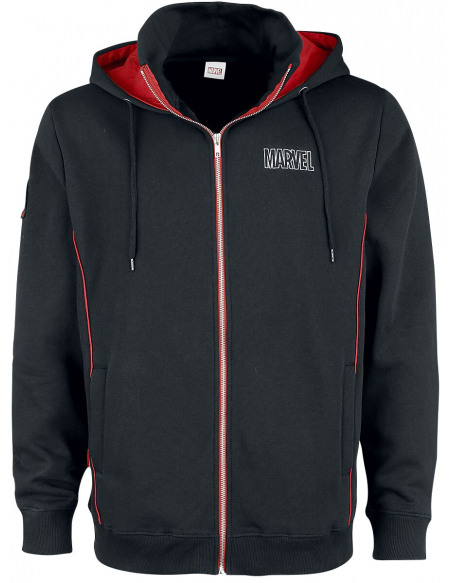 Marvel Logo Marvel Sweat Zippé à Capuche noir
