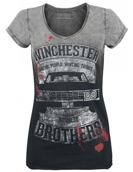 Supernatural Family Business T-shirt Femme gris