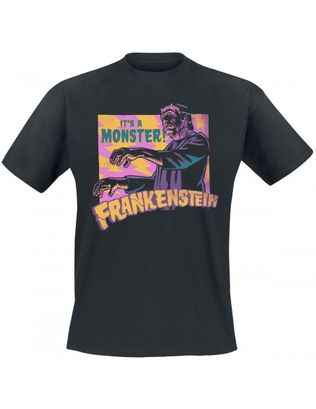 Frankenstein It´s A Monster! T-shirt noir