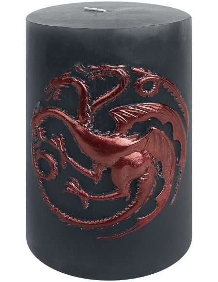 Game Of Thrones Maison Targaryen Bougie gris/rouge