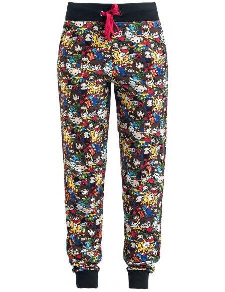 Harry Potter Chibi Allover Bas de pyjama multicolore