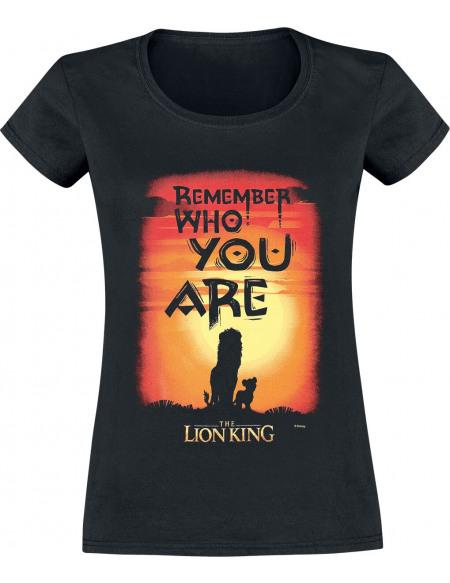 Le Roi Lion Remember Who You Are T-shirt Femme noir
