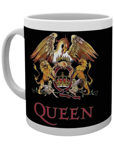Queen Blason Coloré Mug blanc