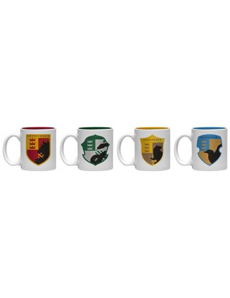 Harry Potter Blasons Maisons - Set De Tasses Espresso Set de Mugs multicolore