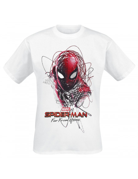 Spider-Man Far From Home - Sketched Hero T-shirt blanc