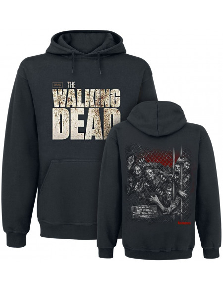 The Walking Dead Walkers Fence Sweat à capuche noir