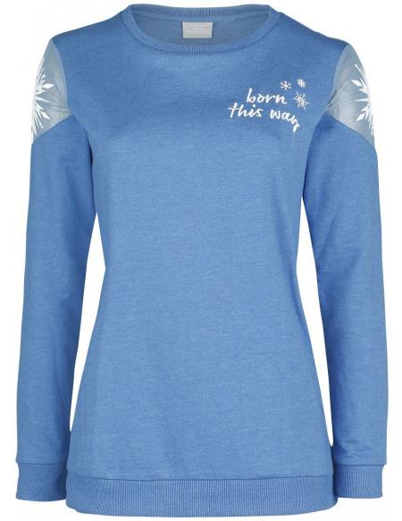 La Reine Des Neiges Born this way Sweat-shirt Femme bleu