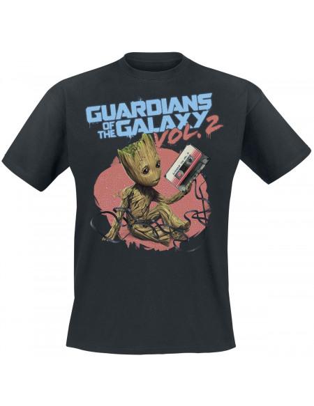 Les Gardiens De La Galaxie 2 - Groot Tape T-shirt noir