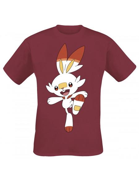 Pokémon Pokémon Épée & Bouclier - Flambino T-shirt rouge chiné