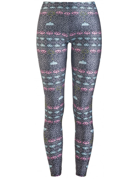 Space Invaders Wild Bangarang - Grey Shooter Legging multicolore