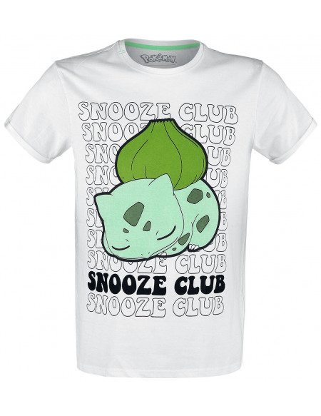 Pokémon Bulbizarre - Snooze Club T-shirt blanc