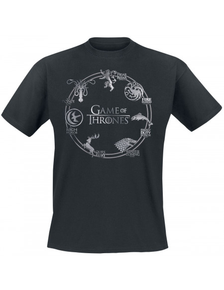 Game Of Thrones Logo Cercle T-shirt noir
