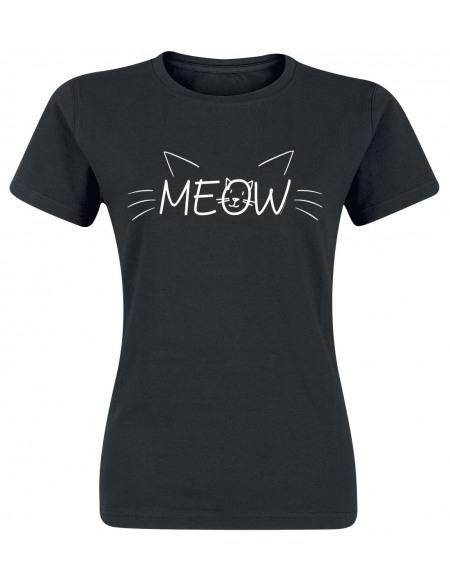 MEOW T-shirt Femme noir