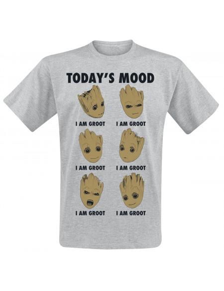 Les Gardiens De La Galaxie Les Gardiens de la Galaxie 2 - Groot Today's Mood T-shirt gris clair chiné