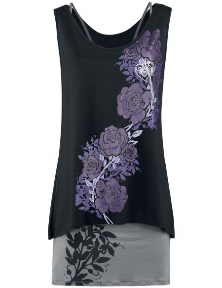 Charmed Fleurs Robe noir/gris